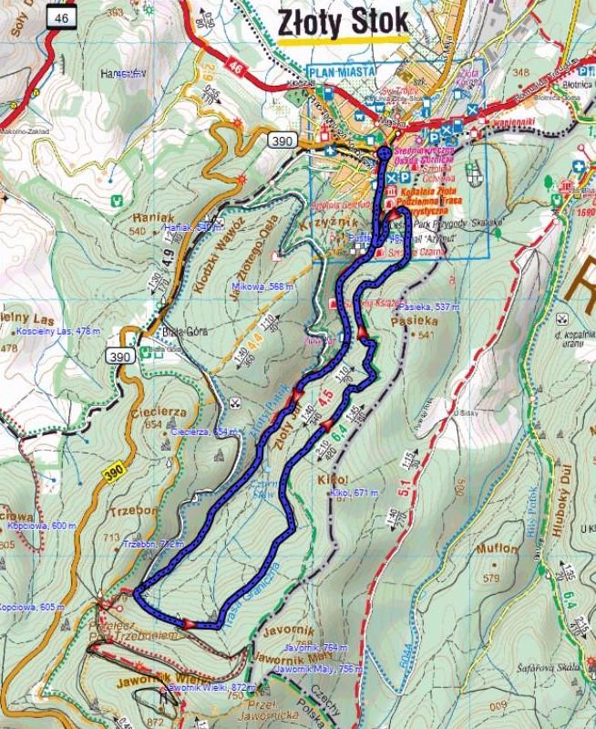 mapa trasy bnj 10 km